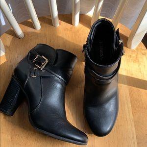 Merona Black Bootie Heels